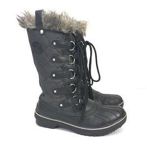 Sorel Tofino Black Leather Winter Boots